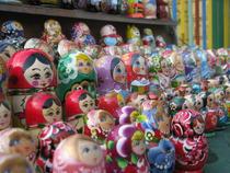 Matrioska intr-un targ din Kiev